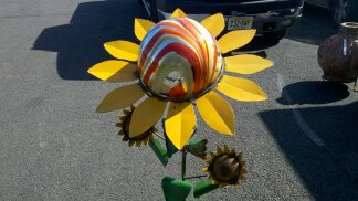 Sunflower with Glass Globe